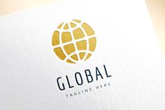 Earth map logo icon. Globe, travel by Vector-Stock on Creative Market