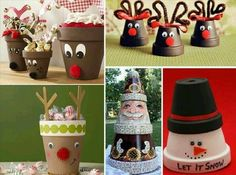 Diy Terra Cotta Flower Pot Christmas Decorations and Craft Tutorials Easy Christmas Crafts, Noel Christmas, Christmas Projects, Simple Christmas, Christmas Decorations, Christmas Ornaments, Christmas Gifts, Holiday Decorating, Christmas Ideas