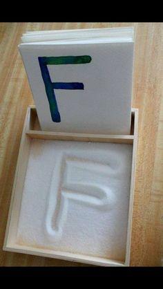 Montessori Sand Letters