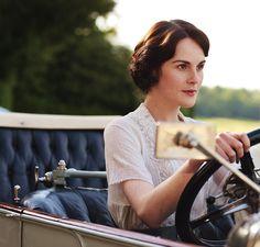 Lady Mary at the wheel!