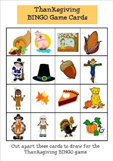Refreshing image intended for thanksgiving bingo printable