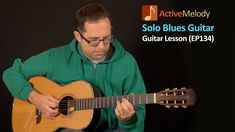 Solo Blues Guitar lesson (with jazzy chords) - Played with a pick - EP134