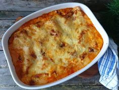 Veggie Recipes, Veggie Food, Veggies, Food And Drink, Pizza, Lunch, Cheese, Baking, Lasagna