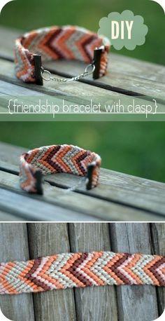 DIY: friendship bracelet with clasp by latonya