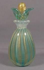vintage blown glass perfume bottles