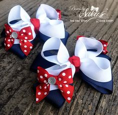 Hey, I found this really awesome Etsy listing at https://www.etsy.com/listing/189577251/patriotic-boutique-bow-4th-of-july-bow