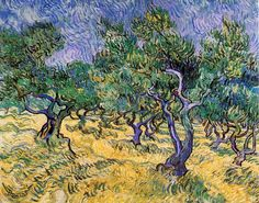 Paintings by Vincent | Olive Grove painting, aVincent Van Gogh paintings reproduction, we ...