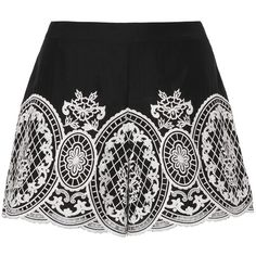 Intermix Women's Autumn Embroidered Shorts ($245) ❤ liked on Polyvore featuring shorts, skirts and bottoms