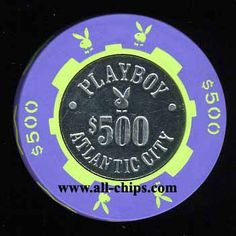 $500 Playboy Atlantic City back up chip for sale!  Here is the link. http://www.all-chips.com/ChipDetail.php?ChipID=17585  This is a Great example of the PLA-500a