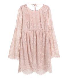 Spetsklänning | Vintagerosa | Dam | H&M SE