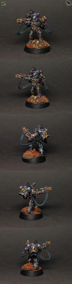 Moritat Iron Warriors avec double volkite serpentas - Space Marines du Chaos