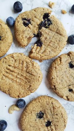 Sweet, soft baked blueberry cashew breakfast cookies! These, healthy mouth-watering cookies are vegan, gluten free, and refined sugar free.