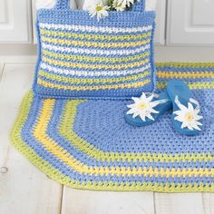 Buy Free Pattern Lily Sugar 'N Cream Oval Rug from the Crochet Patterns range at Hobbycraft. Free UK Delivery over and Free Returns. Crochet Rug Patterns, Knitting Patterns Free, Crochet Rugs, Free Knitting, Free Pattern, Afghan Crochet, Crochet Blankets, Crochet Stitches, Daisy