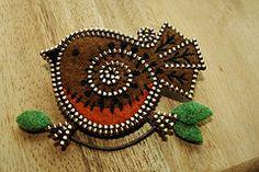 Felt and zipper work by Odile Gova