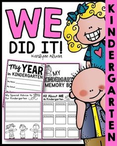 End of Year Kindergarten memory book!