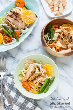 Orange Tare-Glazed Grilled Chicken Salad | the little kitchen