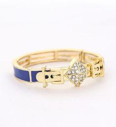 Blue & gold buckle bangle