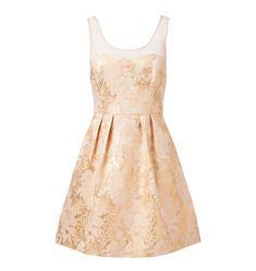 Ave metallic Jacquard  dress