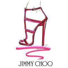 #JimmyChoo #shoes #chic #illustration #art