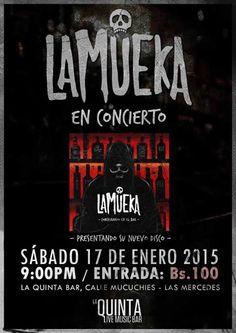 """Cresta Metálica Producciones » LaMueka en concierto presentando el Lanzamiento de su primer disco """"Conspirando en el Bar"""""""