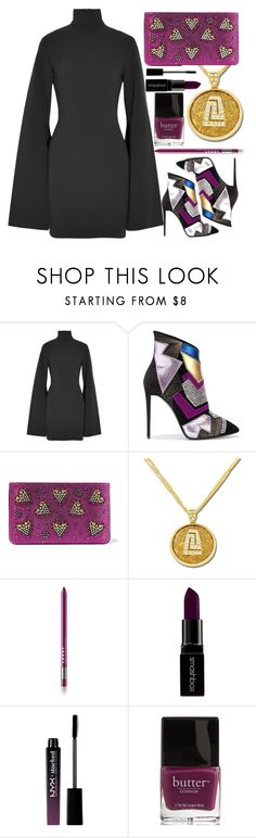 """""""Anastazio-holiday party look"""" by anastazio-kotsopoulos ❤ liked on Polyvore featuring beauty, Solace, Giuseppe Zanotti, Christian Louboutin, Anastazio, Smashbox, NYX, Butter London, Unique and luxury"""