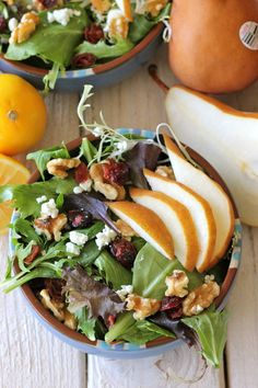 Winter Pear Salad w/ Meyer Lemon Vinaigrette