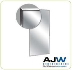 A&J Washroom - U711 - Channel Frame Mirror - Newton Distributing