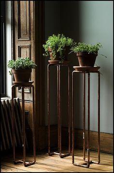 copper pipe bookshelf - Google Search