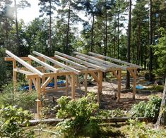 Attefallshus Lindköping I — Swedish Timber Frame Tiny Cabins, Tiny House Cabin, Tiny House Plans, Tiny House Design, Small Lake Houses, Timber Frame Cabin, Shed Roof, Cabin Plans, Cozy Cottage