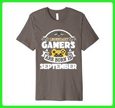 Mens Funny Video Game T Shirt Legendary PREMIUM September Tee Small Asphalt - Gamer shirts (*Amazon Partner-Link)