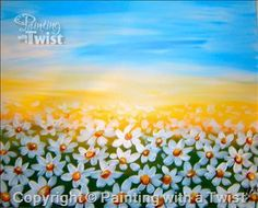 Field of Daisies!! Maybe translate to blue bonnets at sunset