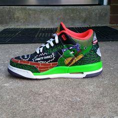 TMNT Custom Sneakers #TMNT #Michelangelo #Raphael #Leonardo #Donatello