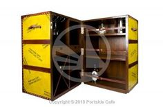 Leather bar trunk by Portside Cafe.