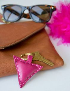 DIY Leather Shape Keychains - Lovely Indeed