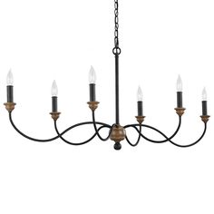 Murray Feiss F3000/6DWZ/WO 6 - Light Chandelier