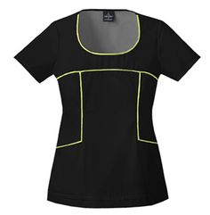 751c4221a58 Baby Phat Color Play Top in Black This fashionable scoop neck top has  contrast piping that