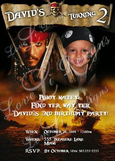 pirates of the caribbean party invitations party like a kid walk