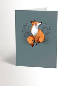 Illustrations, Etsy, Bird, Animals, Products, Fox Drawing, Virgos, Envelope, Animales
