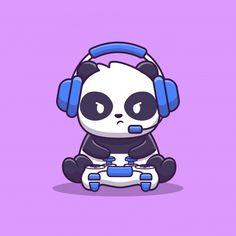 Cute Panda Drawing, Cute Panda Cartoon, Cute Animal Drawings, Cartoon Drawings, Cartoon Art, Cute Drawings, Cute Panda Wallpaper, Bear Wallpaper, Panda Wallpapers