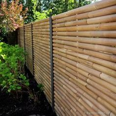 Discover the best Bamboo Screening. Buy your Giant Bamboo Fence Panel 180 x 180 cm at Bamboo Import Europe. Bamboo Screening Fence, Bamboo Privacy Fence, Privacy Fence Designs, Diy Fence, Fence Landscaping, Backyard Fences, Bamboo Poles, Bamboo Wall, Bamboo Garden Fences