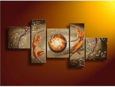 Abstract Art of Love, Bedroom Room Wall Art, 5 Piece Canvas Painting, Love Abstract Painting, - Art Painting Canvas Abstract Art For Sale, Blue Abstract Painting, Abstract Wall Art, Hand Painting Art, Oil Painting On Canvas, Online Painting, Buy Paintings Online, Texture Painting, 5 Piece Canvas Art