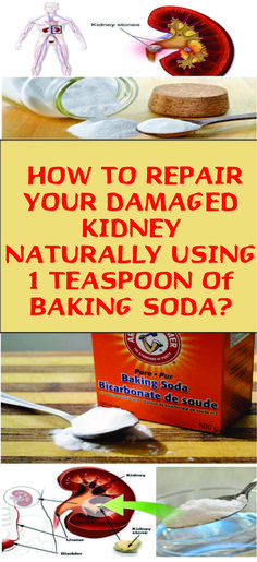 How To Repair Your Damaged Kidney With Only 1 Teaspoon Of Baking Soda - perdre du poids Baking Soda Face, Baking Soda Shampoo, Baking Soda Uses, Kidney Detox Cleanse, Liver Cleanse, Natural Cures, Natural Health, Natural Facial, Home Beauty Tips