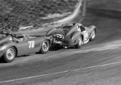 """blackandwhitehistory: """" Maserati 300S, 1956. """""""
