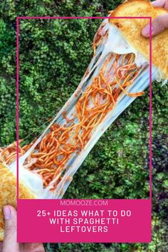"Pizza, pasta, and spaghetti… all kid's favorites. Have you counted how many times you got this answer to the question ""What do you want to eat""? Well, we have selected some of the most delicious ideas on what to do with spaghetti leftovers. #spaghettileftovers #food #tasty"