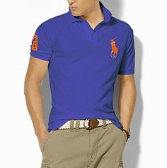 Ralph Lauren Men\u0026#39;s Classic Slim-Fit Big Pony Short Sleeve Polo Shirt New Sapphire /