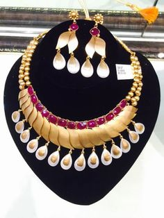 New Bridal gold collection now in showroom. Amazing craftsmanship in Ruby and Pearl.