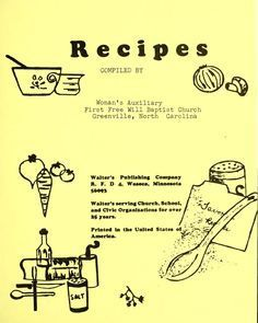 Recipes. Some are ones I use today!