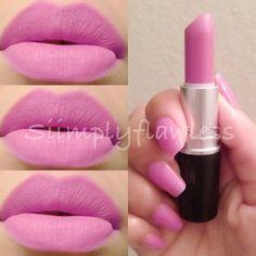 MAC - Saint Germain [lipstick & nail varnish]. Have the lipstick. So so so pretty! Bright BARBIE pink!