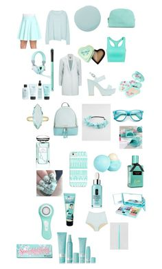 """""""Light blue"""" by b3ttyw3ldon on Polyvore featuring J Brand, ONLY, Catherine Catherine Malandrino, Nly Shoes, MICHAEL Michael Kors, Casetify, Full Tilt, River Island, Vera Bradley and By Terry"""