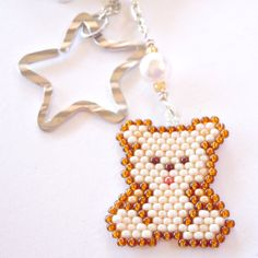 Beaded Teddy Bear Cell Phone Dust Plug Charm Brick by BeadCrumbs, $5.75